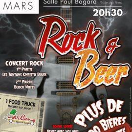 Soirée ROCK AND BEER le 25 mars 2017